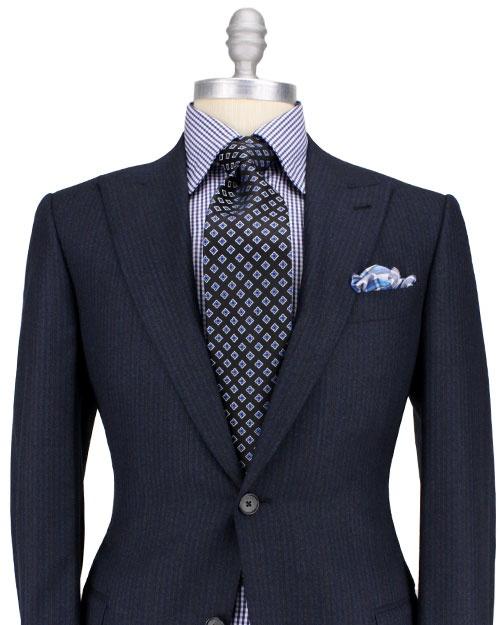 Ermenegildo Zegna Midnight with Blue Stripe Suit
