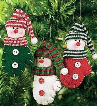 Christmas Tree Felt Decorations