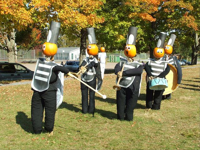 Marching Band Scarecrows