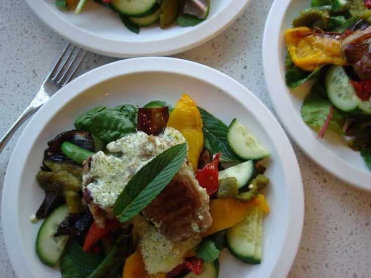 Photo of Warm Lamb Salad With Minted Feta Dressing