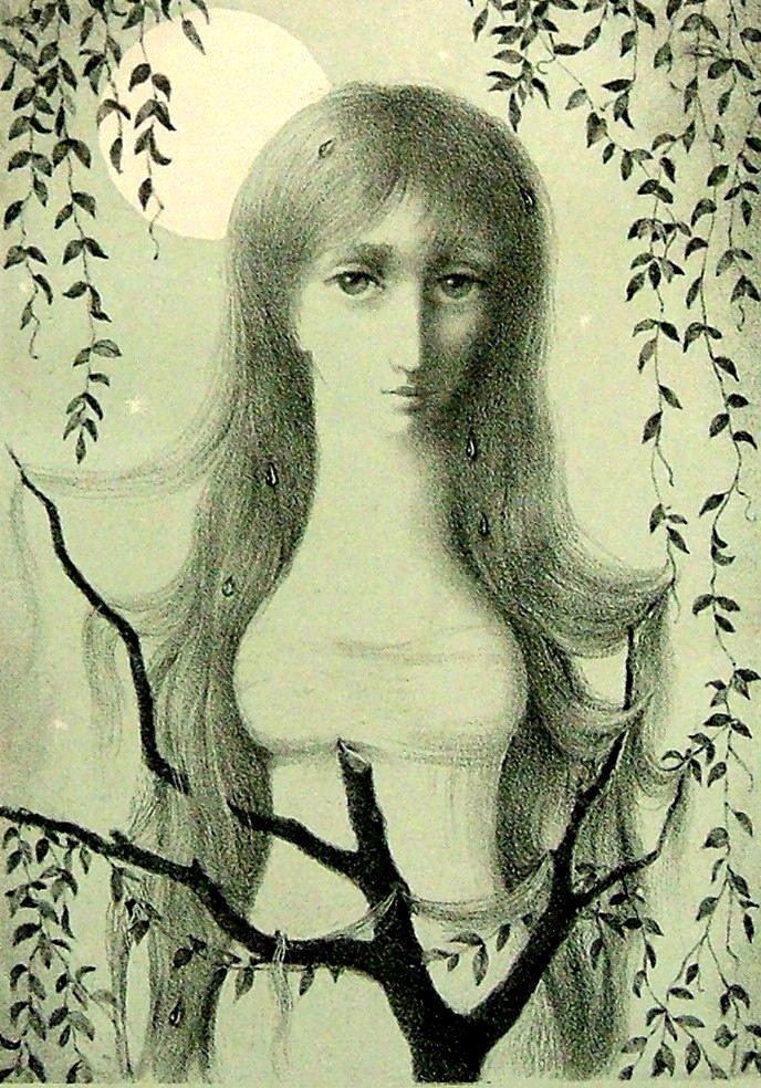 """JIŘINCOVÁ Ludmila (1912-1994): """"Dívka s měsícem"""""""