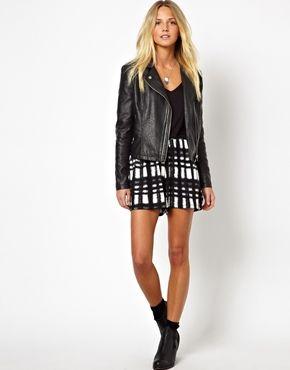 ASOS Culotte Shorts in Tartan Check Print