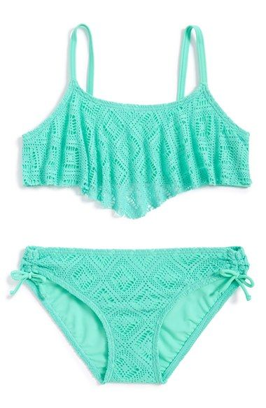 Gossip Girl Two-Piece Swimsuit (Big Girls) (Online Only) | Nordstrom