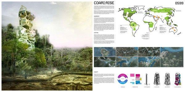 Conceito de Torre Sustentável na Floresta Amazónica