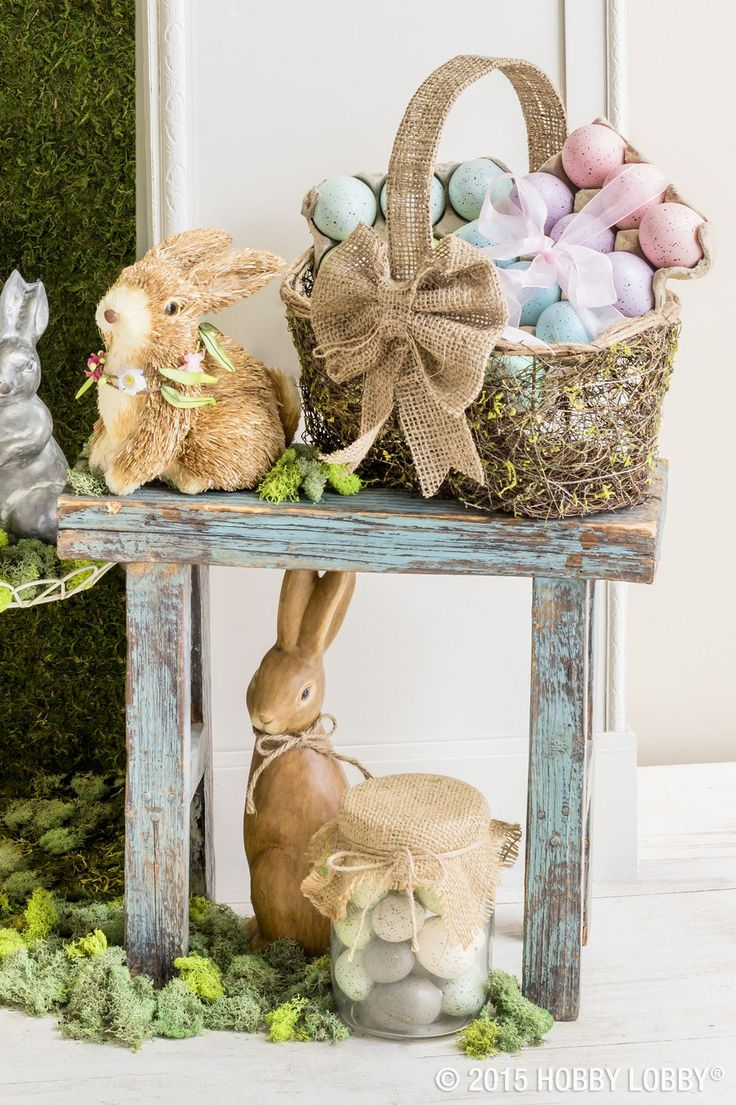 from hobby lobby no bunny knows how much we love easter decor