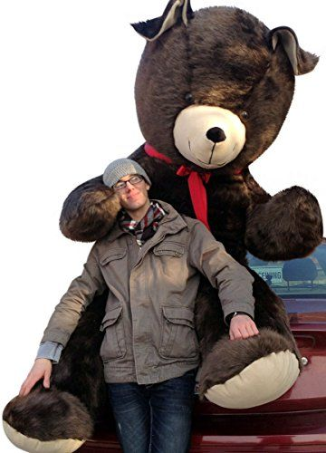 American Made Giant Eight Foot Brown Teddy Bear Huge 96 Inches Soft Plush BigPlush