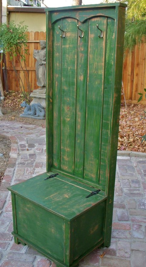 Entryway Furniture  Hall Stand  Distressed by honeystreasures, $650.00 http://media-cache2.pinterest.com/upload/105623553730750180_V2twQdgO_f.jpg taylor224 craft ideas