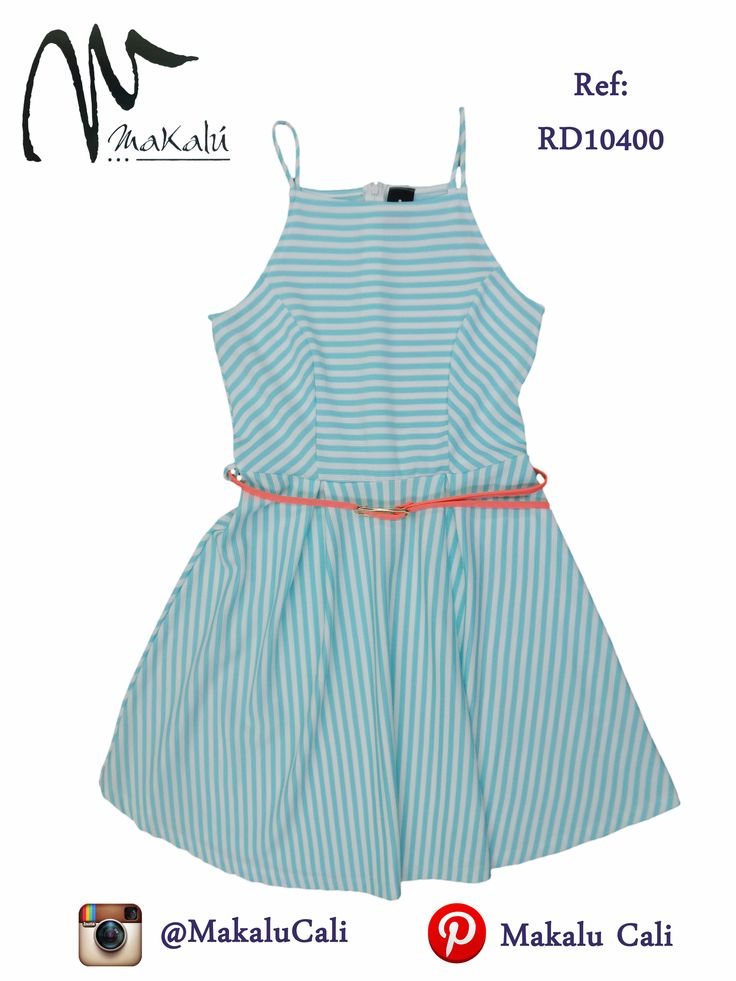 Vestido a rayas en tonos pastel... #makalu #makalucali #ropaamericana #vestidosdemoda #modafemenina #tiendasmakalu #tendencias #moda #cali