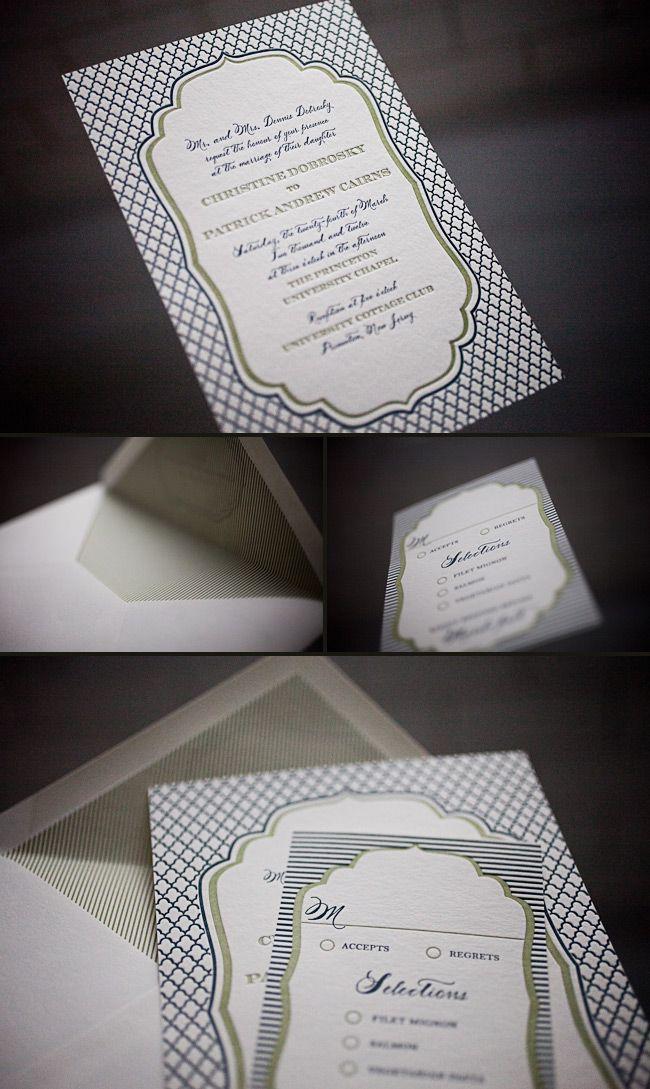 Modern and sleek letterpress wedding invitations 22