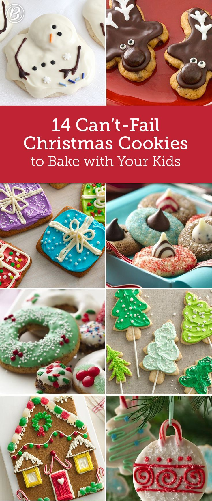 Countdown to Santa's arrival by baking batches of festive cookies together. From an adorably easy gingerbread house to chocolate chip reindeers, these quick-fix recipes are as fun to make as they are to eat.