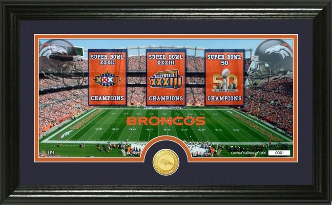 "Denver Broncos Super Bowl """"Traditions"""" Bronze Coin Panoramic Photo Mint Z157-3320489355"
