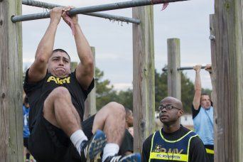 About 120 Fort Lee Soldiers had one of the first looks at the Army Combat Readiness Test Wednesday and Thursday, which gauges Soldiers on five components of physical fitness -- muscular and aerobic endurance, muscular strength, speed/agility and expl...