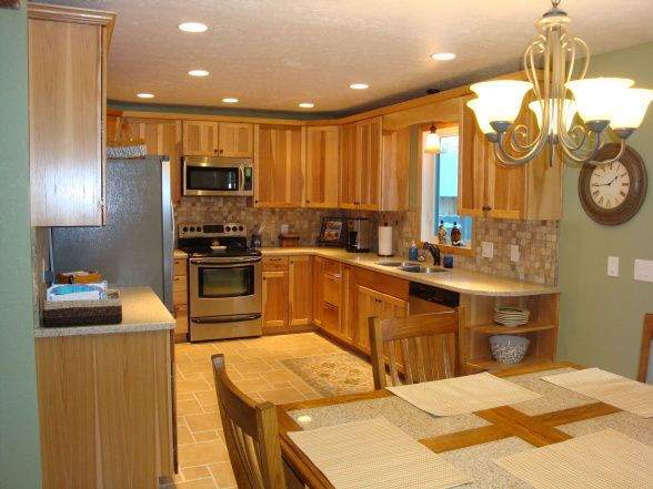 Kitchen Colors With Hickory Cabinets Kitchen Before