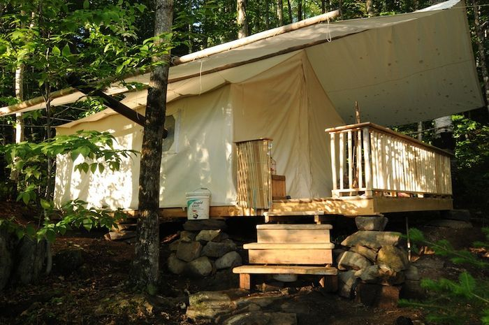 I want a canvas tent on our property RIGHT NOW.