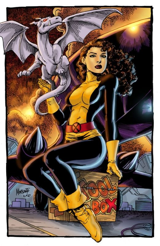 Kitty Pryde, my favorite X-Man, and her dragon, Lockheed
