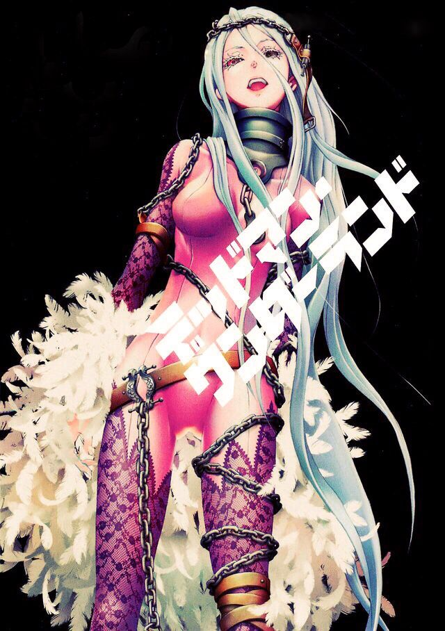 Deadman wonderland. Shiro is one of my favorite female characters and doesn't annoy me..