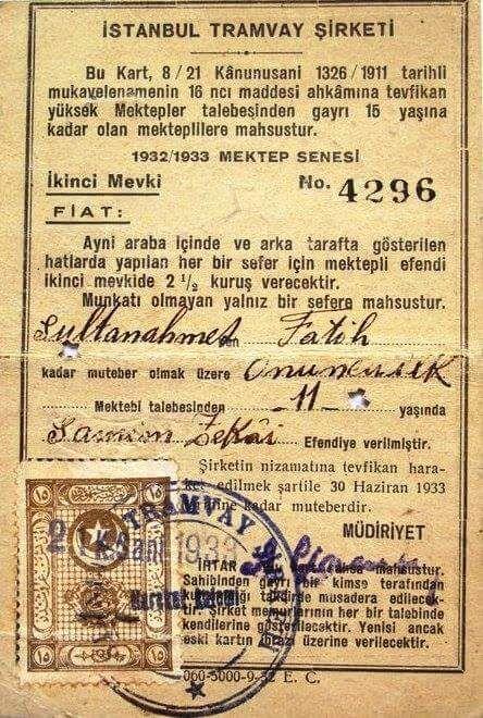İstanbul Tramvay Şirketi, 1933 #istanlook #birzamanlar