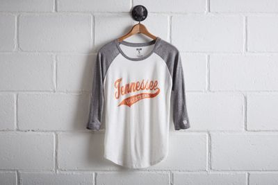 Tailgate Women's Tennessee Baseball Shirt by Don't Ask Why for American Eagle Outfitters   Better come prepared to Neyland Stadium. The Volunteers have an all-time winning record of 447 games, the most home wins in college football history. Shop the Tailgate Women's Tennessee Baseball Shirt and check out more at AE.com.
