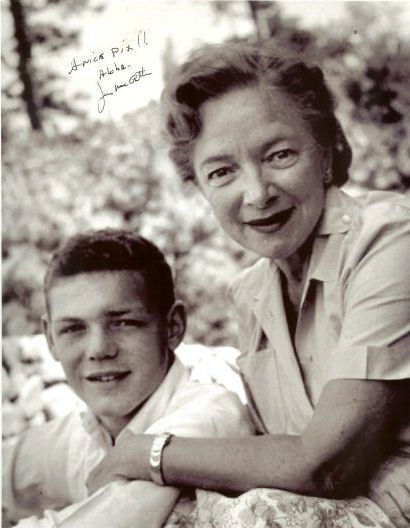 James MacArthur and his mother, Helen Hayes