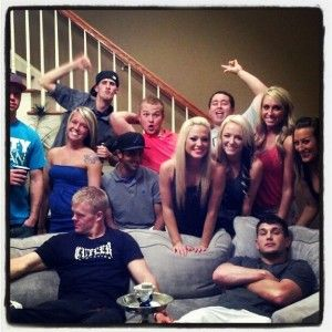 Teen Mom Maci Bookout and Kyle King at a party