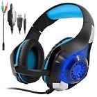 ﹩29.61. Gaming Headset for PS4 PSP Xbox one, SENHAI Led Light GM-1 Headphone with Microp    Platform - No Operating System, Color - Black+Blue,
