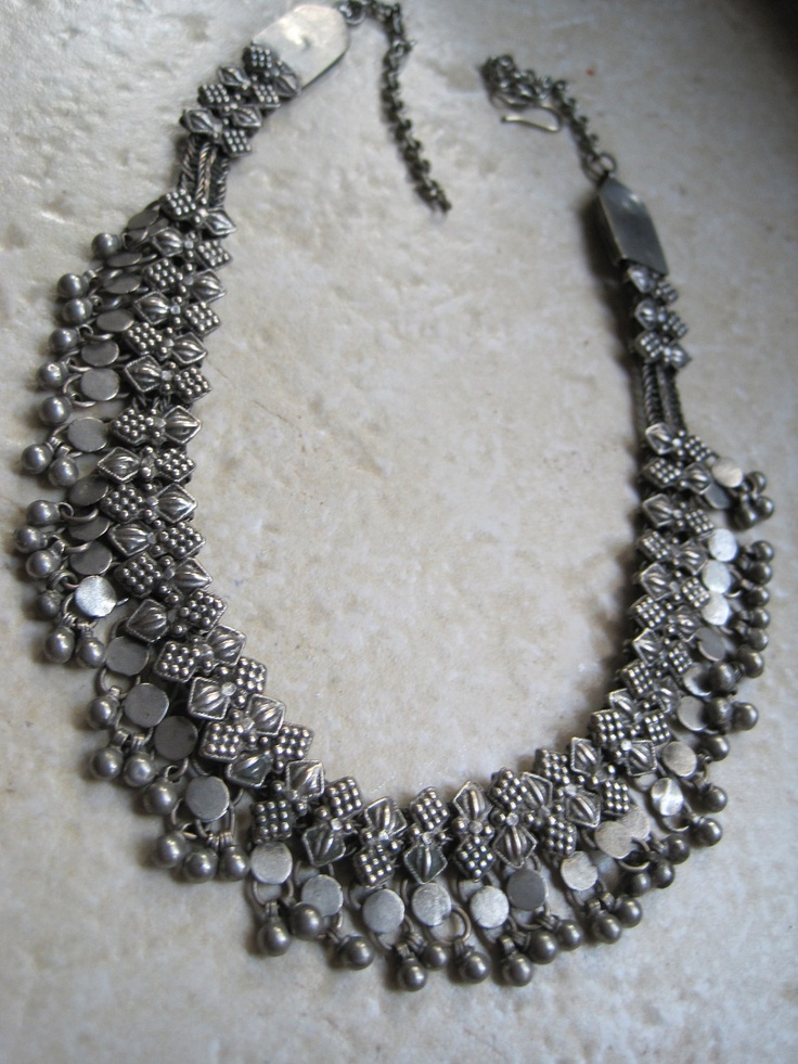 Antique Bedouin Silver Necklace from Yemen