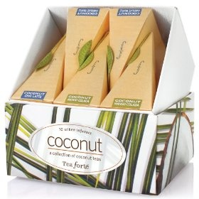 Tea Forte Petite Ribbon Box Coconut Collection - Ten Silken Pyramid Infusers $15.00