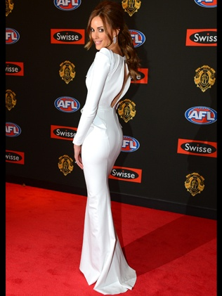 Rebecca Judd wearing Toni Maticevski at the 2012 Brownlow Medal