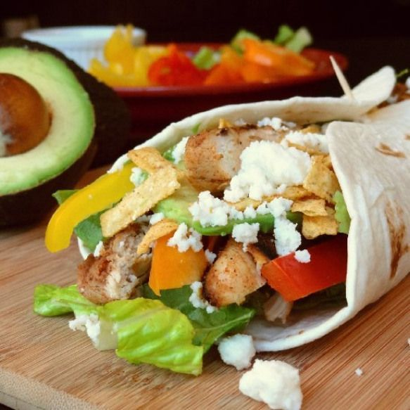 BBQ Chicken Wraps. BBQ Chicken Wraps- Filled with lettuce peppers chicken cheese…