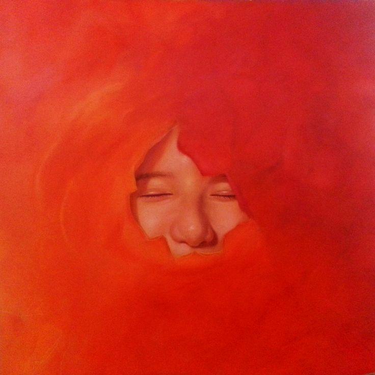 Sinfonía de pétalos 80 x 80 cm oil on canvas