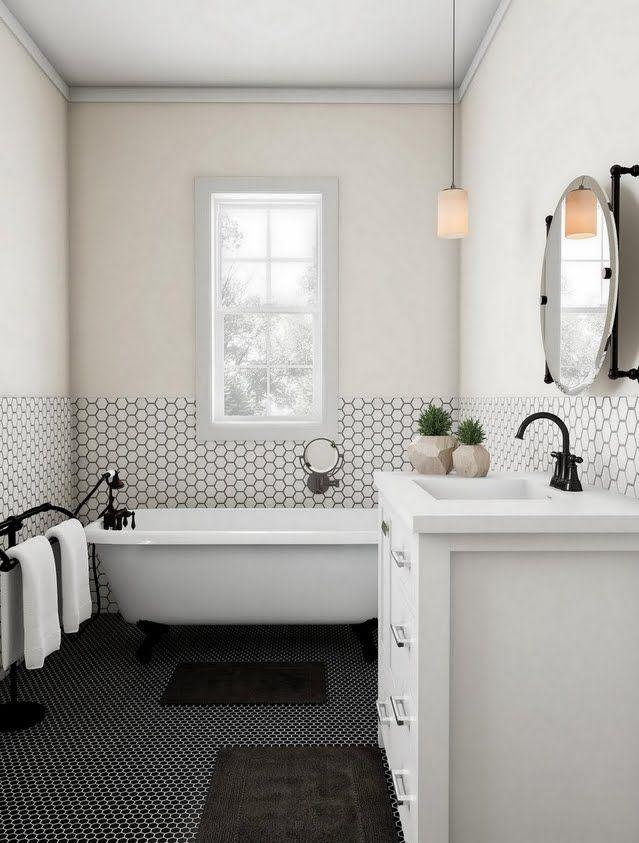 Cream And Black On Black Bathroom Black Bathroom Black And Cream Bathroom Bathroom Decor Black and tan bathroom decor