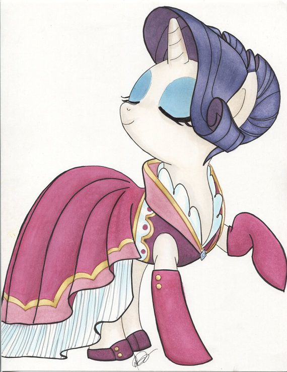 Pretty Party Pony  Rarity by WickedLittleShop on Etsy, $27.50