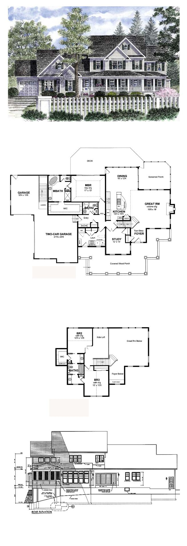Farmhouse Style COOL House Plan ID chp 36742
