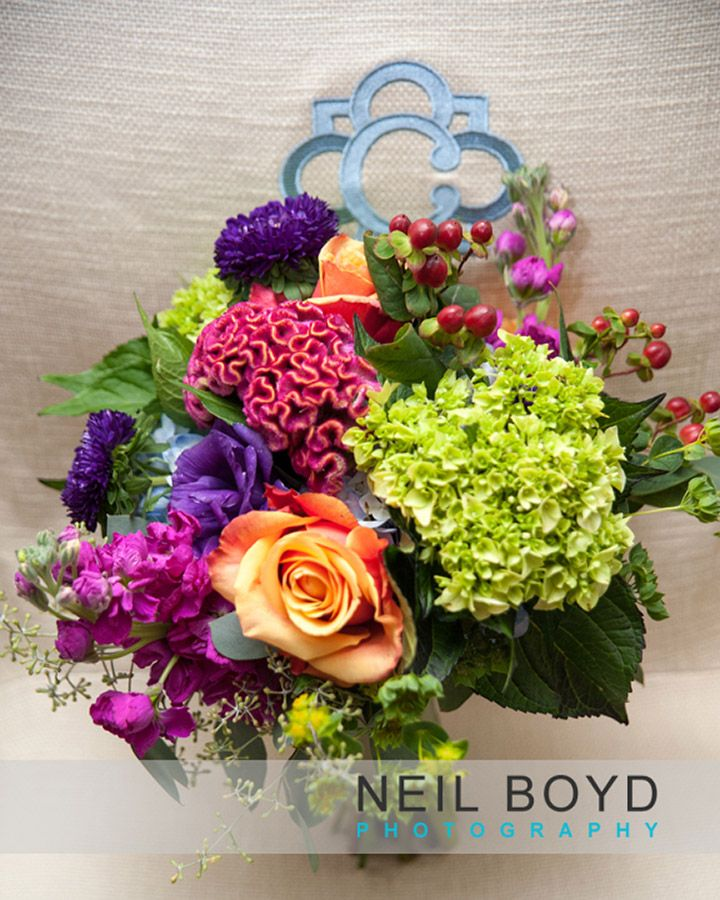 Colorful Wedding Bouquet Raleigh Weddings Neil Boyd Photography Flowers Kelly Odom