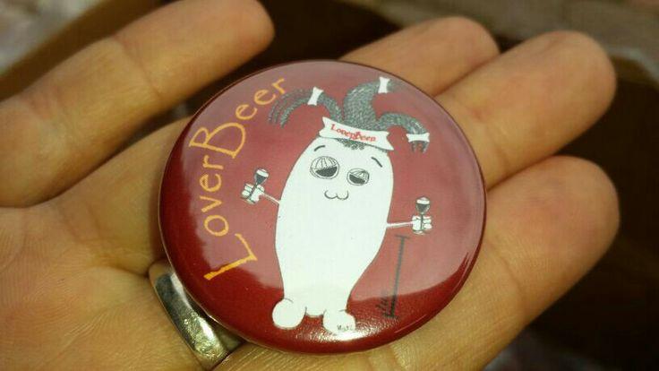 LoverBeer Bretta Pin