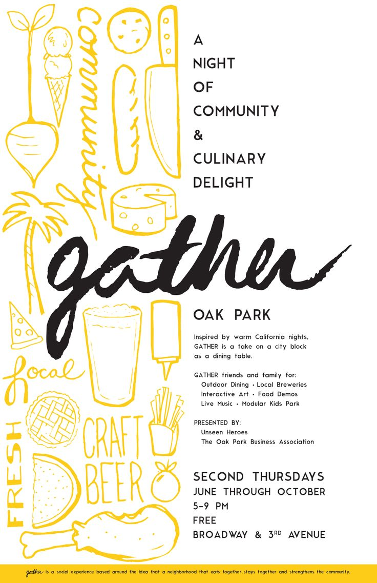 Poster For GATHER: Band, Picture-Black Posters, Food Truck