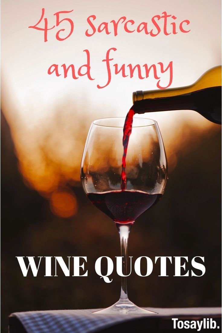 45 Sarcastic And Funny Wine Quotes Over The Ages So Many People From Different Occupations And Walks Of Life Have Wine Quotes Funny Wine Quotes Wine Humor