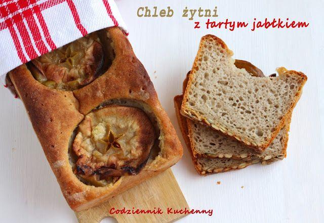 Chleb żytni z tartym jabłkiem - Codziennik Kuchenny