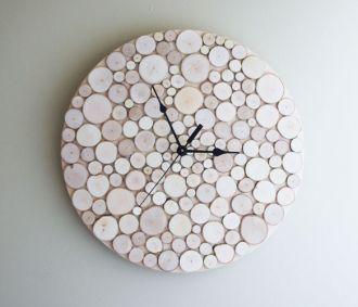 White Birch Forest Clock