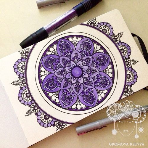 Imagen de art, purple, and drawing