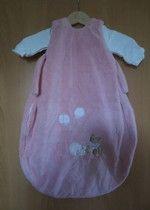 Steiff Schlafsack rosa 70 cm + Alvi Jersey-Innensack 62 cm