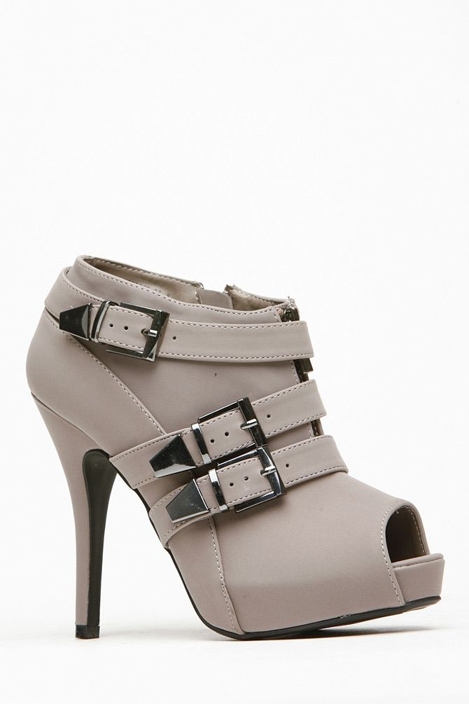 Anne Michelle Buckle Peep Toe Booties @ Cicihot. Booties spell style, so if you want to show what you're made of, pick up a pair. Have fun experimenting with all we have to offer!