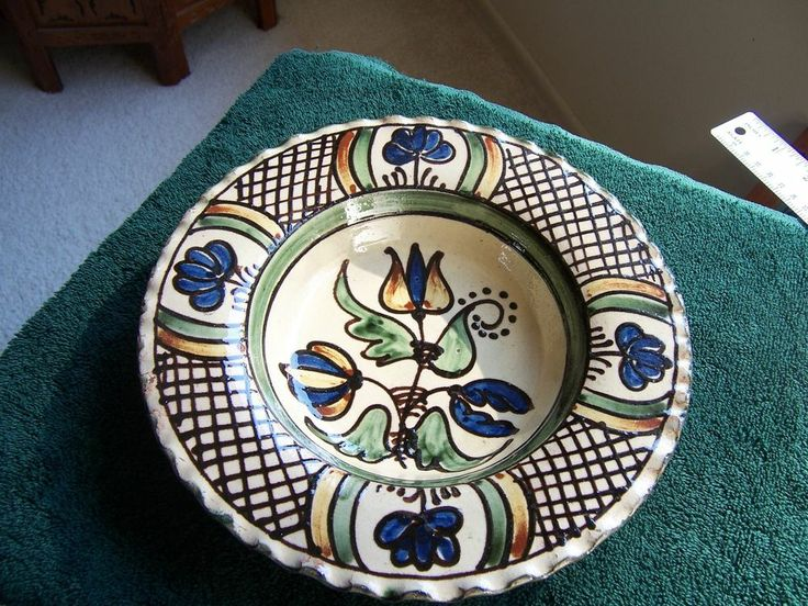 ANTIQUE HUNGARIAN POTTERY BOWL,