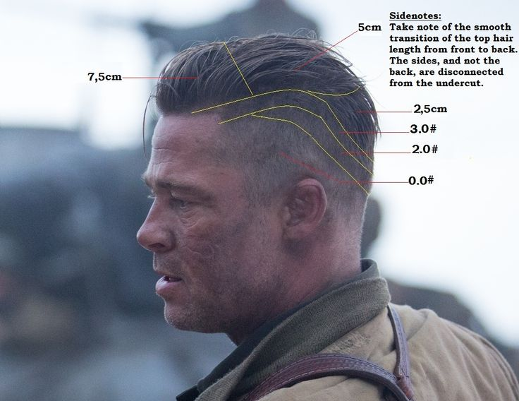 Brad Pitt Hairstyles Fury Haircutfeel Free To Share Your Experiencei Was Very
