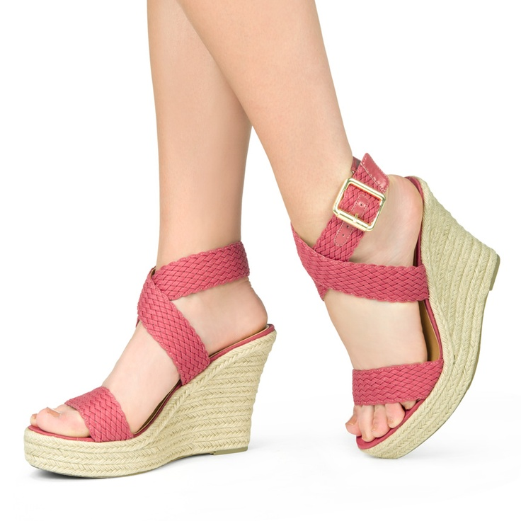Pin to Win $500! Styling this summer is a breeze! Wear this classic wedge on your next brunch date. Enter here: https://www.facebook.com/justfab/app_137377669785610?ref=ts