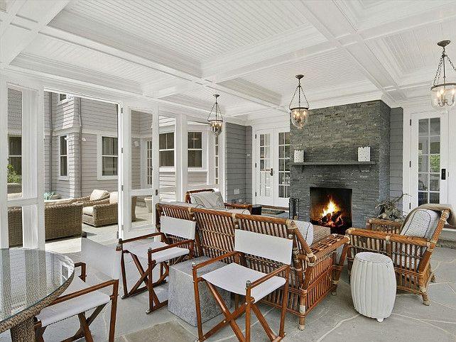 Porch. Beautiful Screened Porch Ideas. #Porch #ScreenedPorch