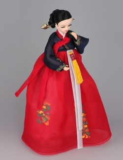 Korean Traditional Hanbok Doll <-- I have one of these. They're very cute. :)