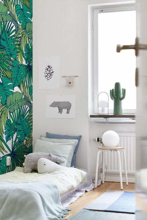 Palm Monstera Leaf Wallpaper Removable Wallpaper Self Adhesive