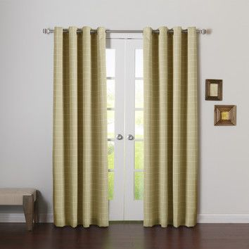 You'll love the Modern Plaid Room Darkening Curtain Panel at Wayfair
