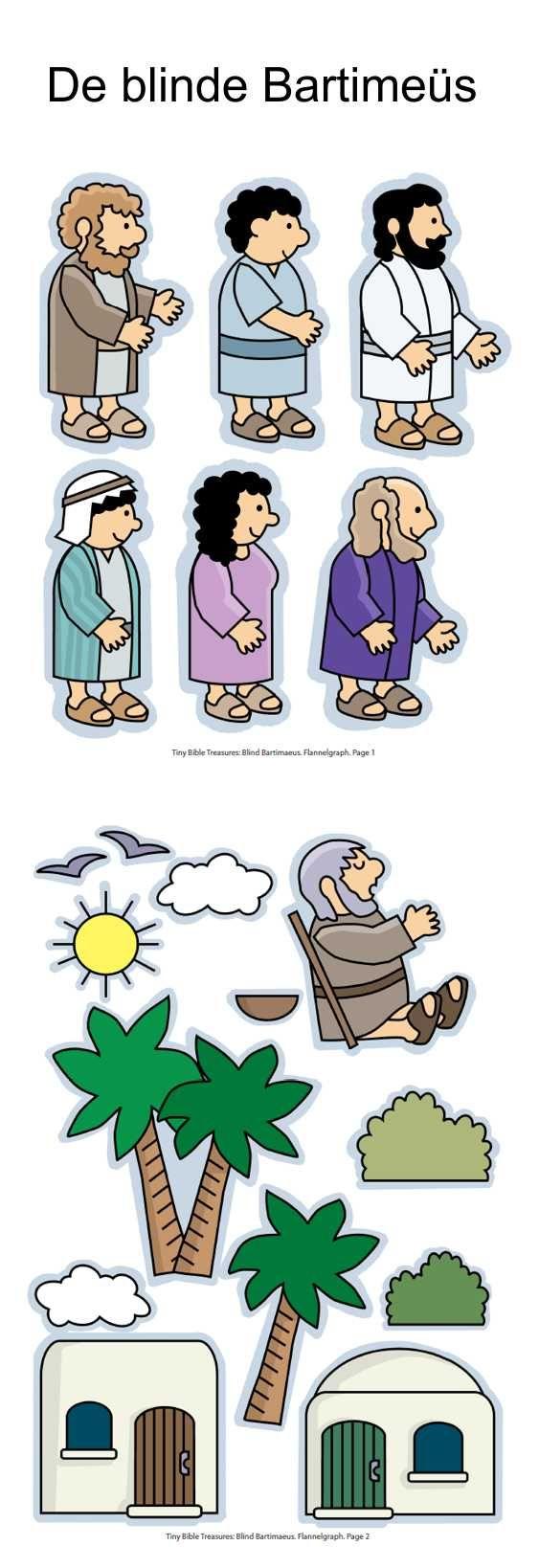 De blinde Bartimeüs, flanelplaten voor kleuters, kleuteridee.nl , Bartimaeus, Flannel Bible Sheets, free printable 1